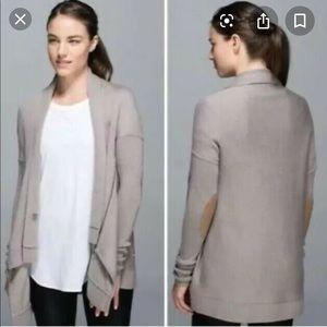 Lulu lemon wrap it up sweater- size 12